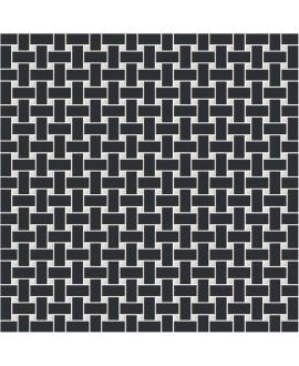 Mosaique W filet de pêche noir et blanc en plaque de 31.4x31.4cm