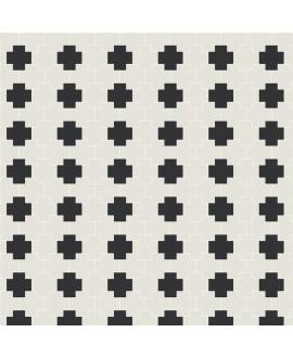 Mosaique W tetrix blanc et noir en plaque de 27.1x25.3cm