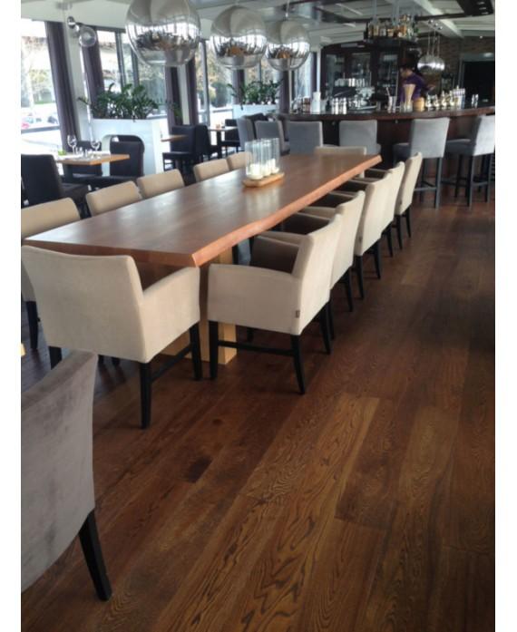 Parquet chêne verni contrecollé marron foncé , contemporain largeur 190 mm layork coffee