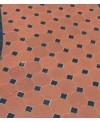 Carrelage octogone en grès cérame fin vitrifié W rouge 10x10cm avec cabochon noir de 3.5x3.5cm