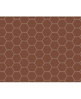 Mosaique W hexagonal rouge 5x5cm en plaque de 29.5x28.1cm