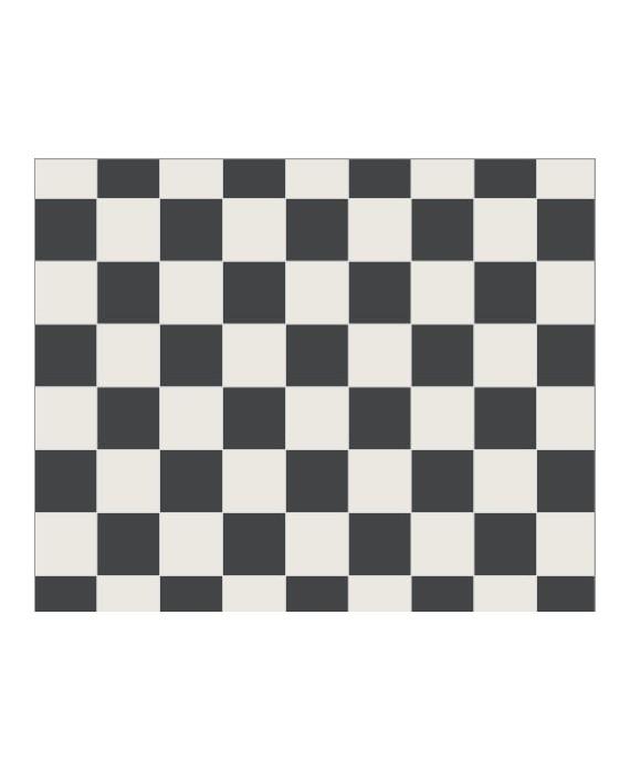 Mosaique W damier blanc et noir de 5x5cm en plaque de 31.8x31.8cm