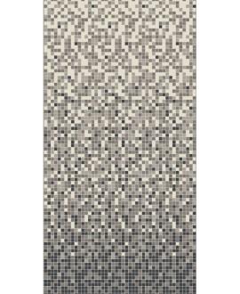Mosaique en grès cérame fin vitrifié W damier blanc et noir de 2x2cm en plaque de 30.8x30.8cm