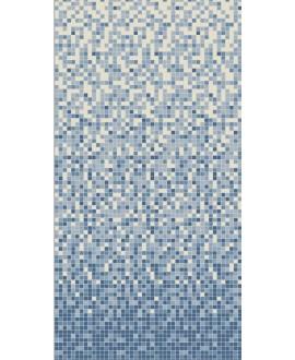 Mosaique en grès cérame fin vitrifié W dégradé du blanc au bleu nuit de 2x2cm en plaque de 30.8x30.8cm