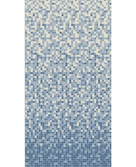 Mosaique W dégradé du blanc au bleu nuit de 2x2cm en plaque de 30.8x30.8cm