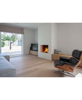 Parquet chêne verni clair contrecollé, plancher en bois salon moderne largeur 190 mm layork pure