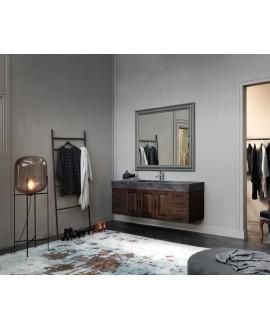 Ensemble de salle de bains AC16 avec un meuble double vasque , deux miroirs et une colonne