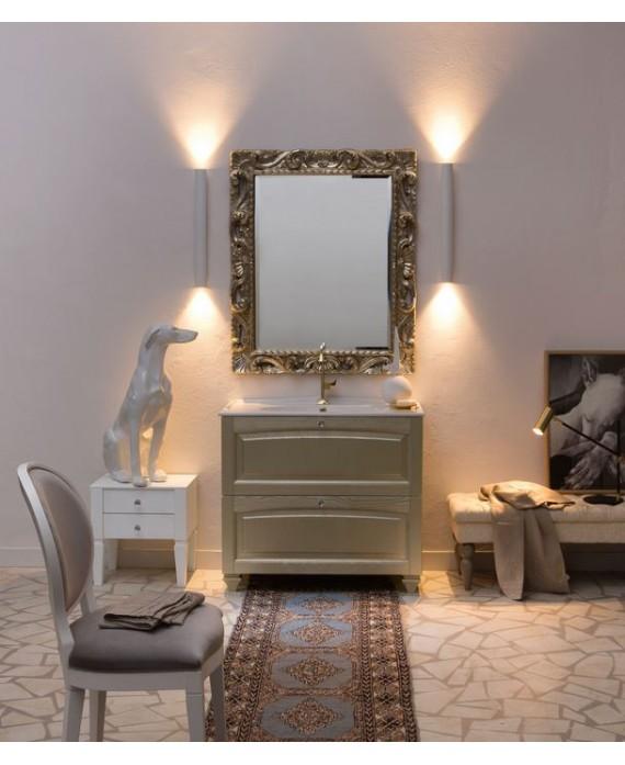 Ensemble de salle de bains AC21 avec un meuble, un miroir et un petit meuble