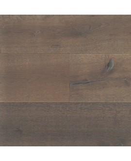 Plancher en chêne contrecollé foncé marron huilé , largeur 190 mm latry smoked coffee
