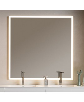 Miroir lumineux C enter 120x120x3cm avec led frontal 4 cotés