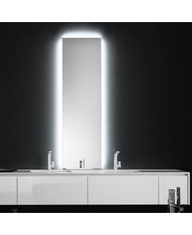 Miroir salle de bain lumineux, moderne, rectangulaire, vertical avec led derrière, comp digit