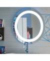 Miroir rond lumineux salle de bain 90x90x3cm, comp orion 4353