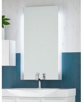 Miroir moderne salle de bain lumineux, 60x100x5cm avec éclairage sur les cotés, comp skip