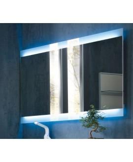 Miroir moderne, rectangulaire, salle de bain, lumineux, vertival 120x80x5cm avec éclairage en haut et en bas, comp skip 4338