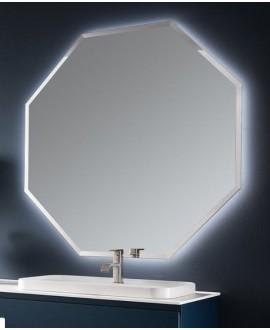 Miroir salle de bain, moderne, hexagonal 120x120x3cm sans éclairage, comp polygon3 4042.