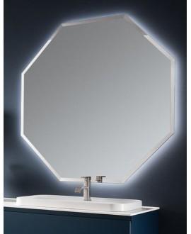 Miroir contemporain, salle de bain, hexagonal 85x85x3cm sans éclairage, comp polygon4 4043.