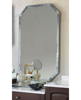 Miroir salle de bain, contemporain, hexagonal 60x100x3cm sans éclairage, comp polygon5 4044.