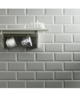 Carrelage métro Ex blanc mat salle de bain 7.5x15cm
