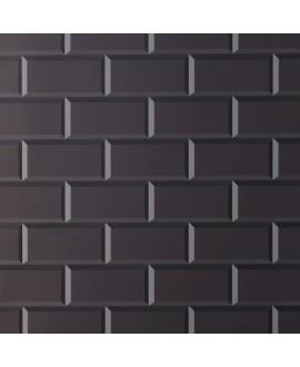Carrelage métro Ex noir mat 7.5x15cm