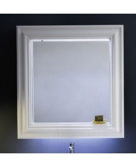 Miroir C marlene 105x95x18cm laqué blanc mat