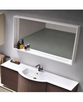 Miroir C forma avec cadre laqué blanc mat