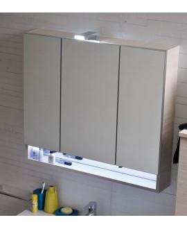 Miroir armoire C , 3 portes, laqué blanc mat
