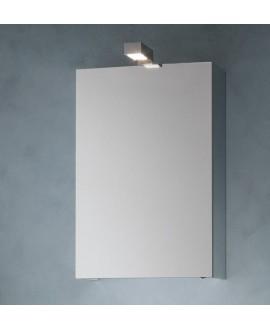 Miroir armoire C simply 50x75x20.8cm, 1 porte, laqué blanc mat