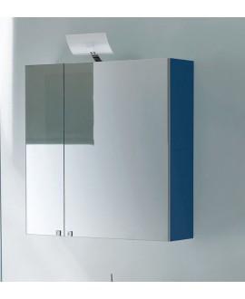 Miroir armoire C simply 70x75x20.8cm, 2 portes, laqué blanc mat