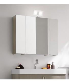 Miroir armoire C simply 90x75x20.8cm, 3 portes, laqué blanc mat
