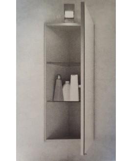 Miroir armoire d'angle C plus 24.5x75x24.5cm, 1 porte G/D, sans eclairage