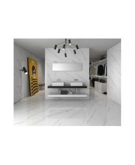Carrelage géostatuary blanc rectifié mat 60x60cm