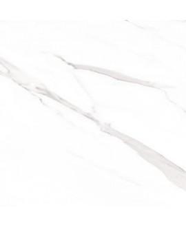 Carrelage imitation marbre rectifié poli brillant grand format rectifié géostatuary blanc