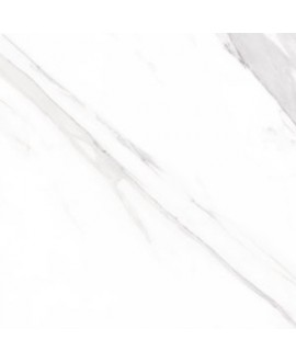 Carrelage imitation marbre rectifié mat grand format, géostatuary blanc