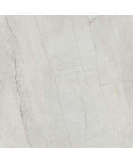 Carrelage imitation marbre rectifié poli brillant grand format, géoswing blanc