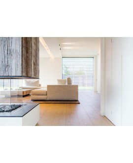 Parquet grande largeur contrecollé en chêne clair huilé , largeur 260 mm , courchevel xxl villa