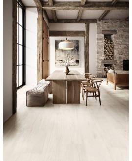 Carrelage santapwood blanc lisse effet parquet 20x120cm