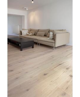 Parquet chêne brossé raboté rustique huilé contrecollé aspect bois brut, grande largeur 190 mm , lafarm pure