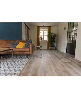 Plancher chêne rustique brossé raboté parquet contrecollé gris huilé, grande largeur 190mm, lafarm tradition