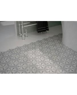 Carrelage hexagone E hexatile nature b&w et blanc 17.5x20cm