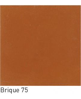 Carrelage ciment rouge brique uni 20x20cm véritable 75