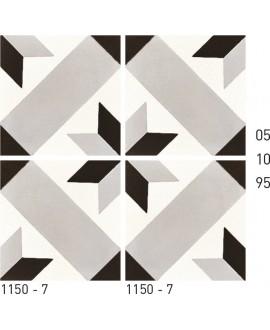 Carrelage ciment décor étoile 1150-7 20x20cm