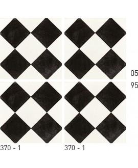 Carrelage ciment décor géométrique 370-1 20x20cm