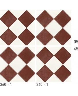 Carreau ciment véritable décor géométrique 360-1 20x20cm