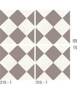 Carreau ciment véritable décor géométrique 310-1 20x20cm