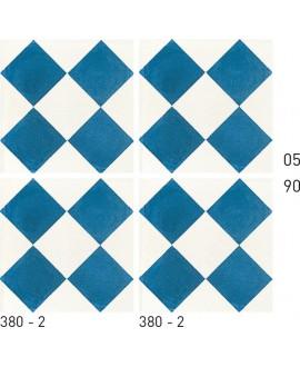 Carrelage ciment décor géométrique 380-2 20x20cm