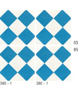 Carrelage ciment décor géométrique 380-1 20x20cm