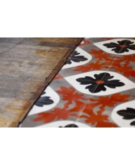 Carrelage ciment décor fleur 640-3 20x20cm