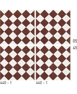 Carrelage ciment décor géométrique 440-1 20x20cm