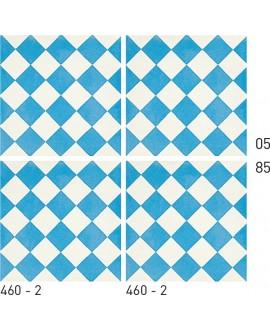 Carrelage ciment décor géométrique 460-2 20x20cm
