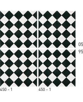 Carrelage ciment décor géométrique 450-1 20x20cm